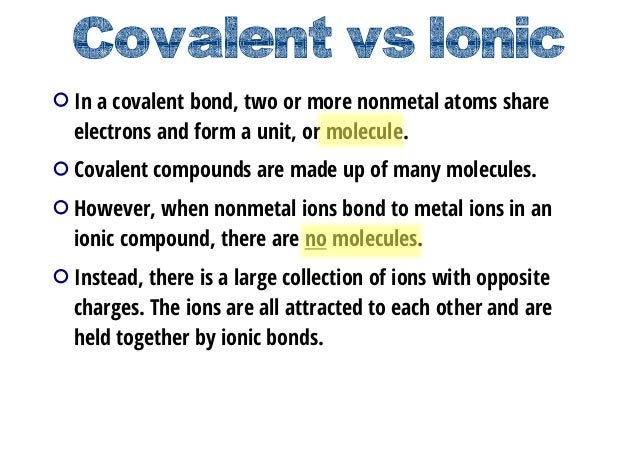 Covalent VsIonic In A Bond