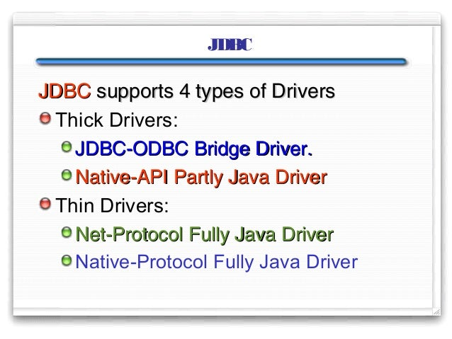 List of ODBC drivers and vendors