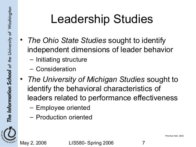 Short Notes on the Ohio State Leadership Studies