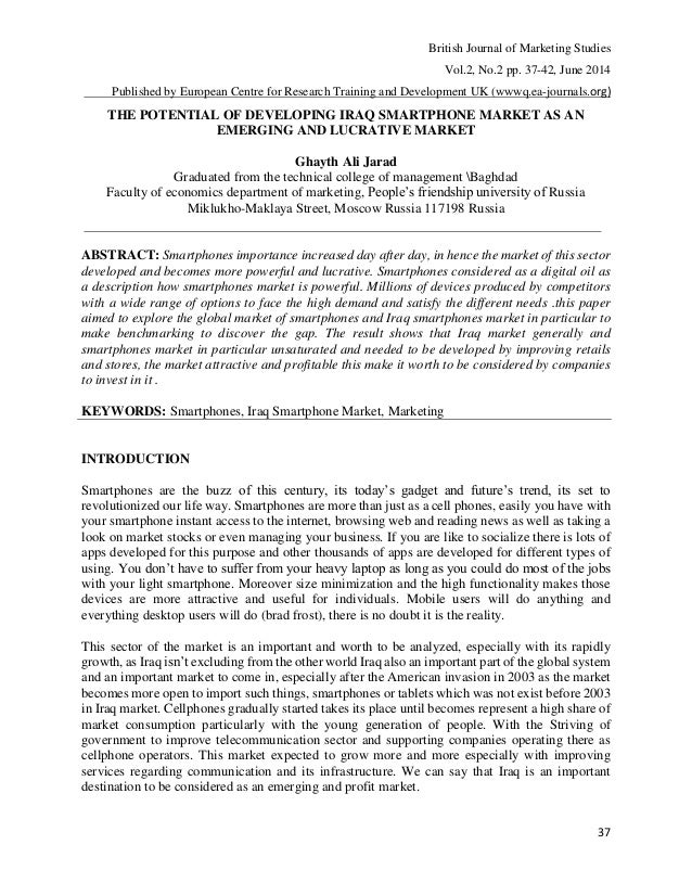 British Journal of Marketing Studies Vol.2, No.2 pp. 37-42, June 2014 Published by European Centre for Research Training a...