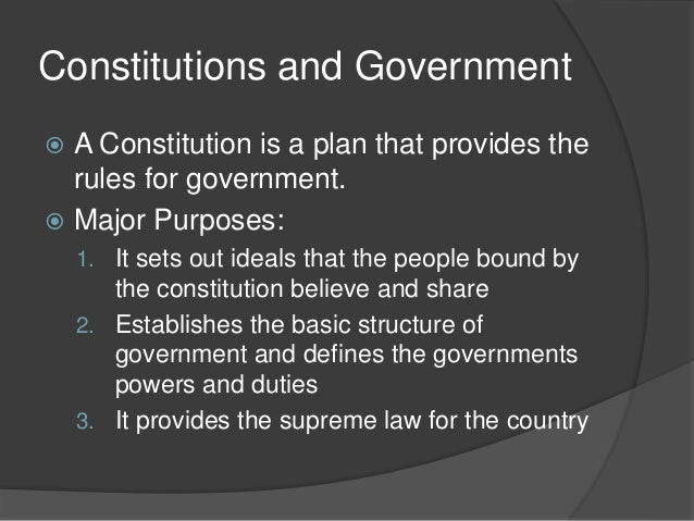 the evolution of constitutional governments in The true origin of the us constitution is very complex many influences include secular philosophy and religion self-government thoughts on theistic evolution and deism by lewis loflin.