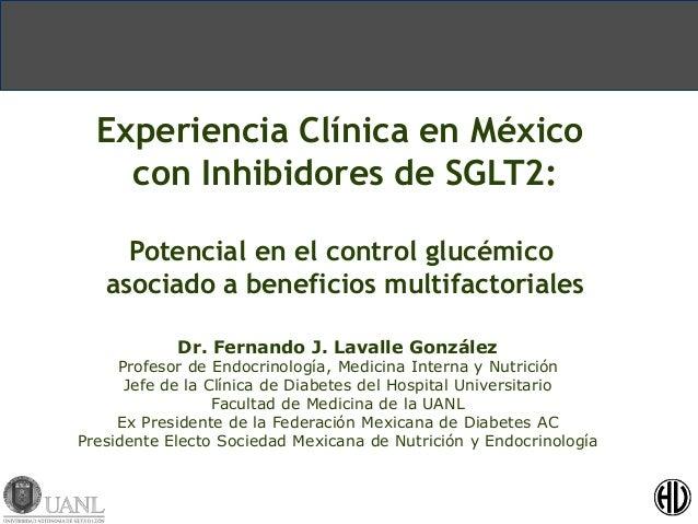 Experiencia Clínica en México  con Inhibidores de SGLT2:  Potencial en el control glucémico  asociado a beneficios multifa...