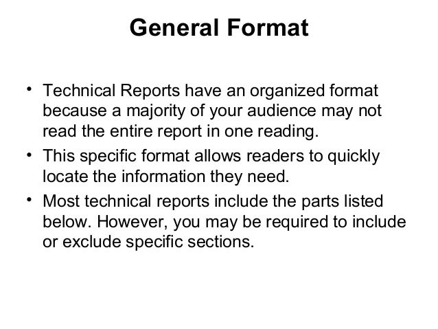 11. technical reports