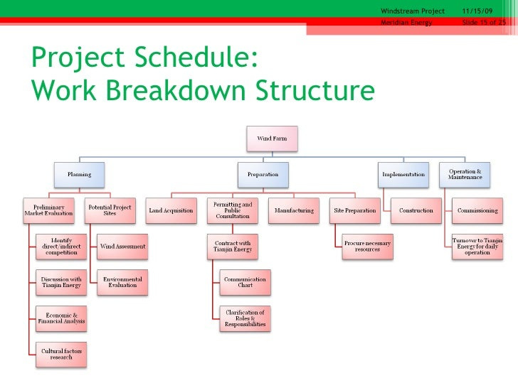 work breakdown structure on a mcdonald s franchise