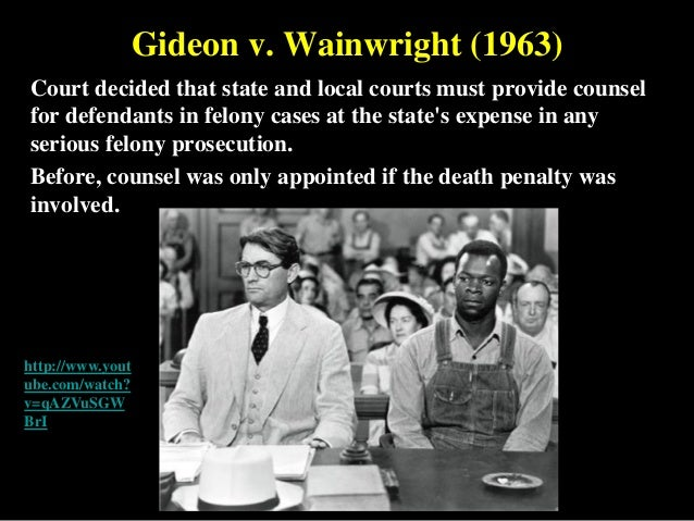 gideon vs wainright In honor of the 50th anniversary of gideon v wainright, here are a number of  photographs i have collected about the case here is clarence.