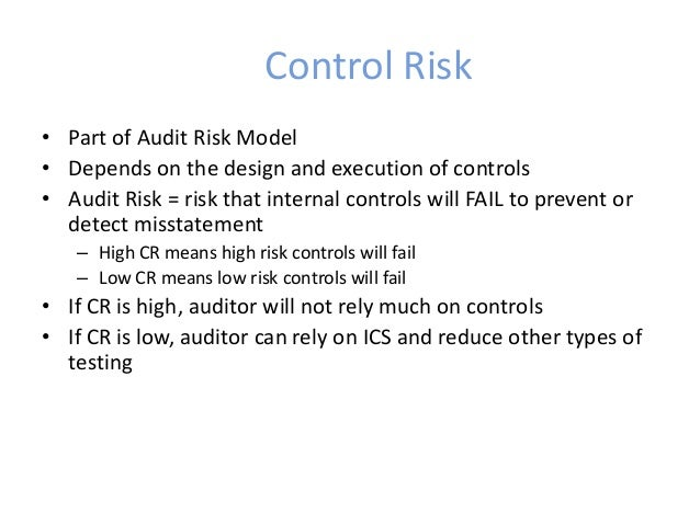detection risk matrix for audit handbook