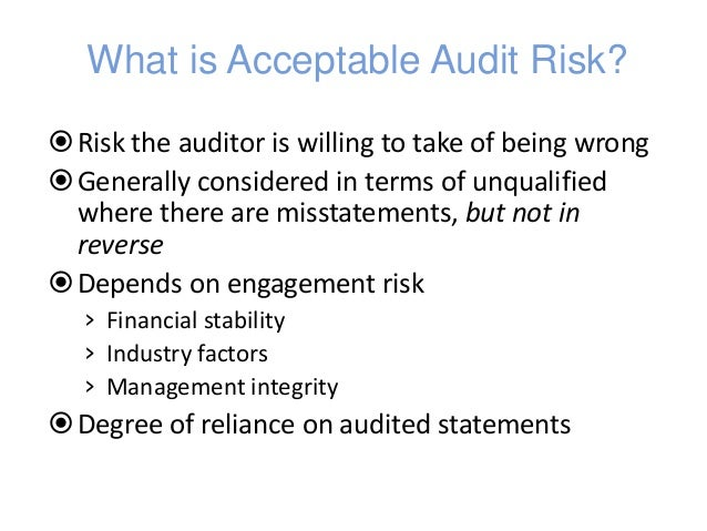 accounts receivable and acceptable audit risk Au section 350 of the aicpa professional standards indicates that audit risk arises selecting accounts receivable for are considered acceptable and.