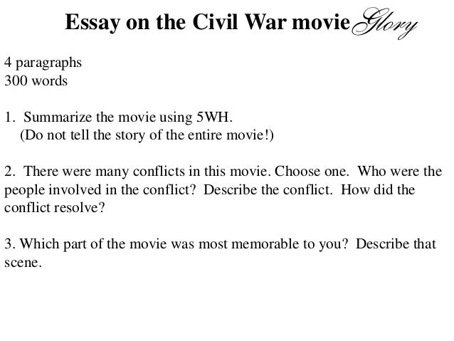 essay on the movie glory essay on the civil war movie