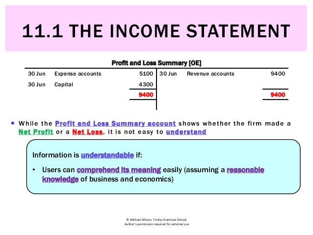 111 the income statement income statement 6 altavistaventures Gallery