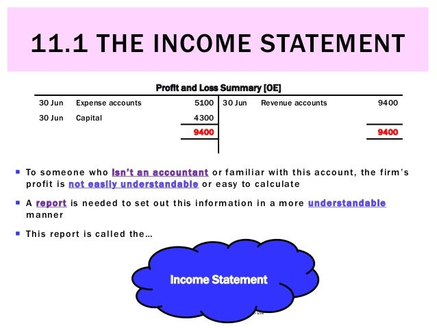 11.1 The Income Statement