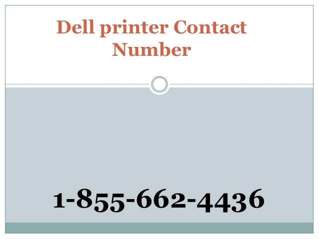 Dell printer Contact Number 1-855-662-4436