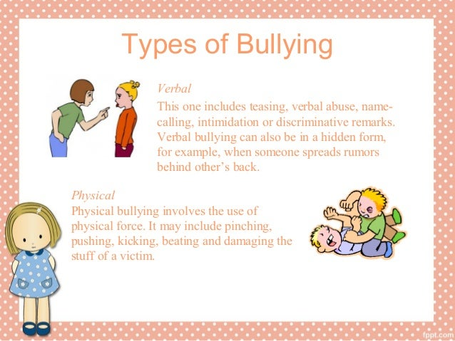 bullying research paper 3 types of bullying verbal