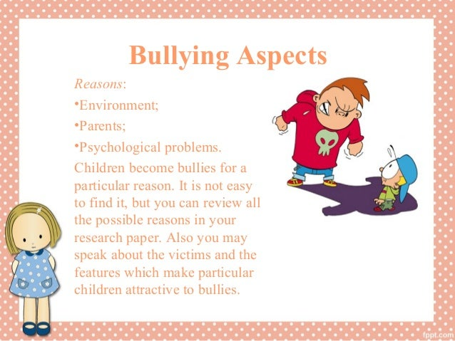 psychology research papers on bullying Psychology - the problem of bullying years that attention has turned toward the widespread problem of bullying essays: bullying.