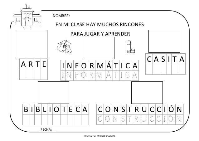 Recursos Para Mi Clase NiÑos Distintas Razas Ficha: Ficha: Los Rincones De Mi Clase
