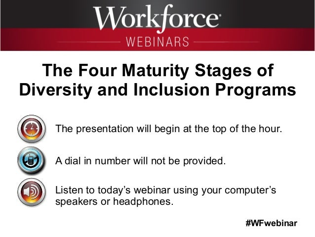 #WFwebinar The presentation will begin at the top of the hour. A dial in number will not be provided. Listen to today's we...