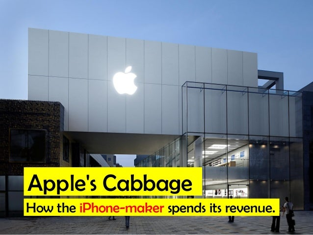 Apple's Cabbage How the iPhone-maker spends its revenue.