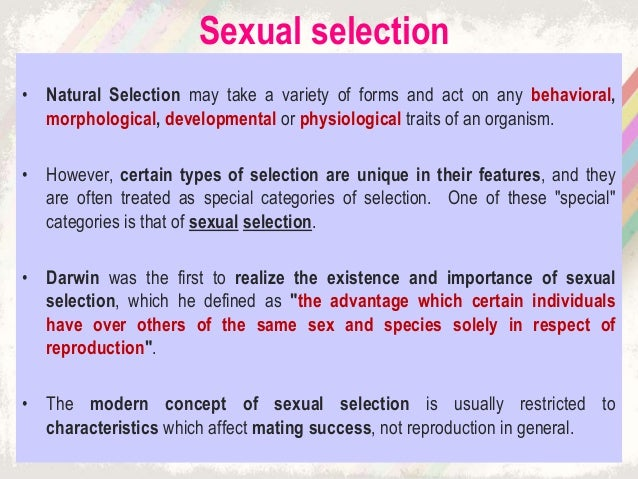 Darwin sexual selection definition
