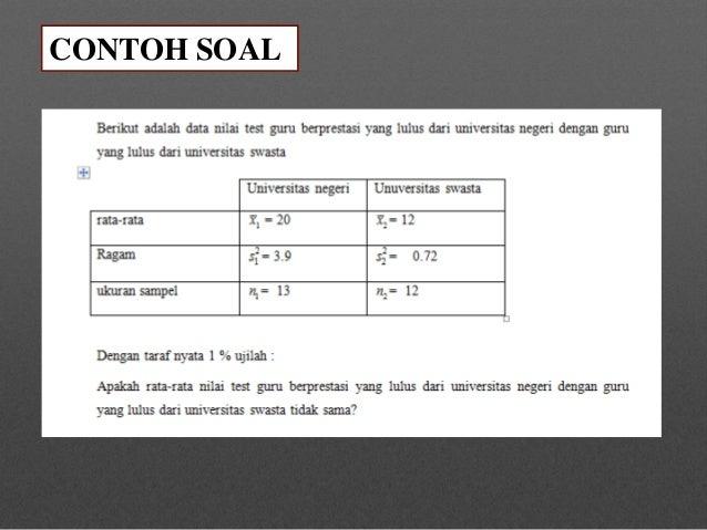 Contoh Soal Hipotesis One Tail Viral News Top