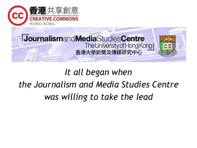 It all began when the Journalism and Media Studies Centre was willing to take the lead