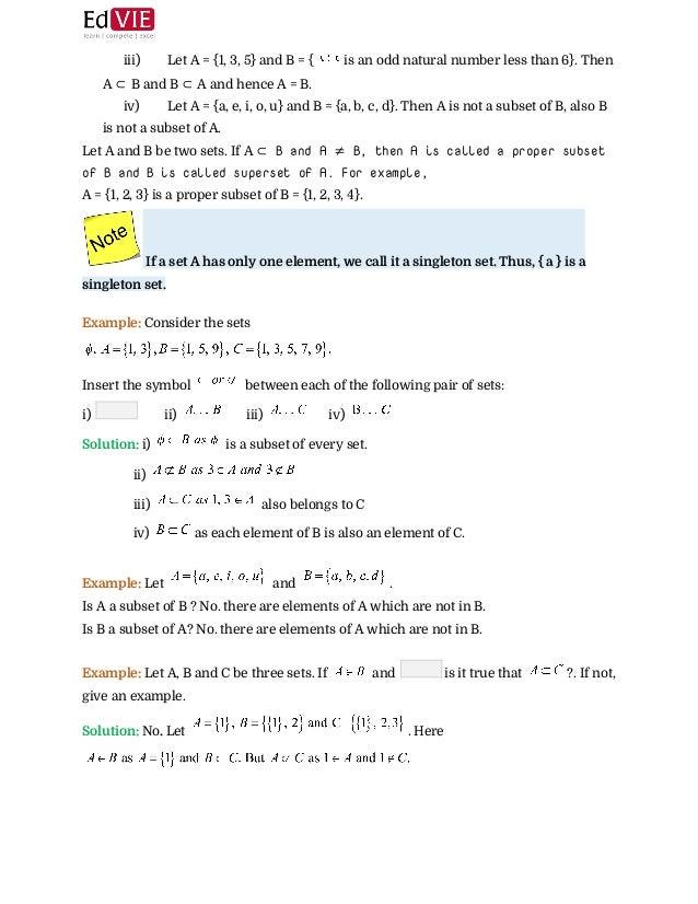 Cbse Class X Mathematics Set Theory Topic