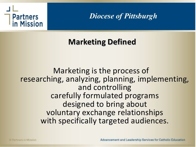 Marketing DefinedMarketing Defined Marketing is the process of researching, analyzing, planning, implementing, and control...