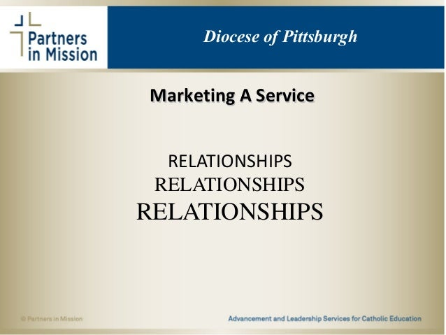 Marketing A ServiceMarketing A Service RELATIONSHIPS RELATIONSHIPS RELATIONSHIPS Diocese of Pittsburgh