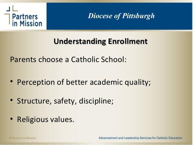 Understanding EnrollmentUnderstanding Enrollment Parents choose a Catholic School: • Perception of better academic quality...