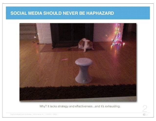 Tying Social Media Content into Strategy Slide 2