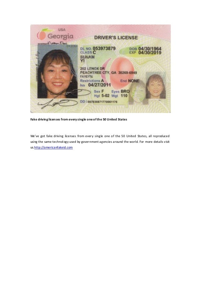 Fake driving licenses from every single one of the 50 United