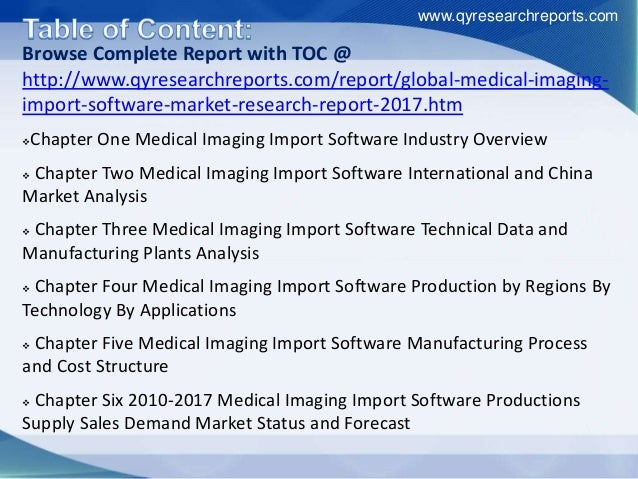 New market study on global medical imaging import software industry 2 medical imaging import software market qyresearchreports 4 sciox Choice Image