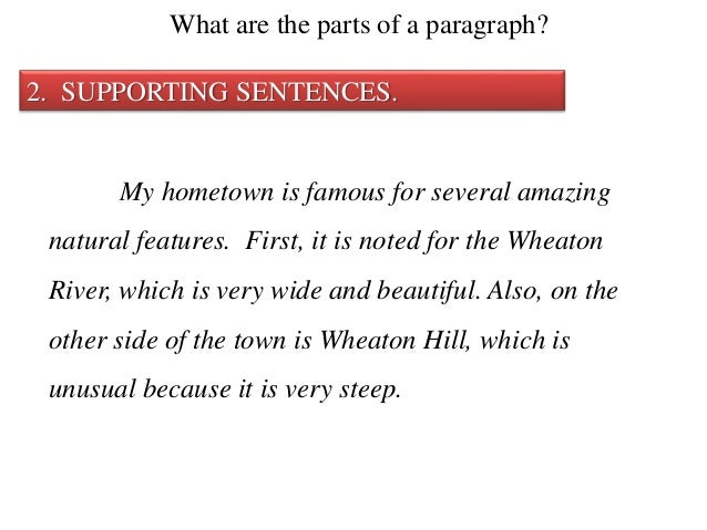 11 the supporting sentence
