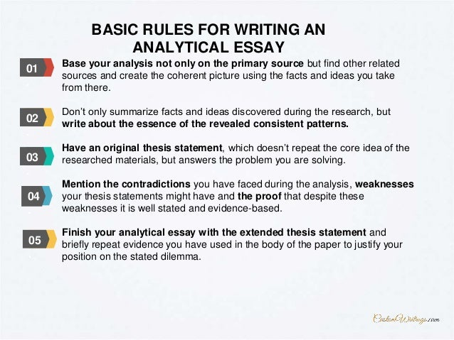 guide to writing an analytical essay