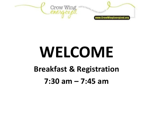 WELCOME Breakfast & Registration 7:30 am – 7:45 am