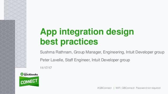 Sushma Rathnam, Group Manager, Engineering, Intuit Developer group Peter Lavelle, Staff Engineer, Intuit Developer group A...