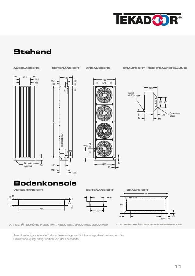 Tekadoor - Tic-S 6000 - TIC 3000 - Industrie-Torluftschleier on