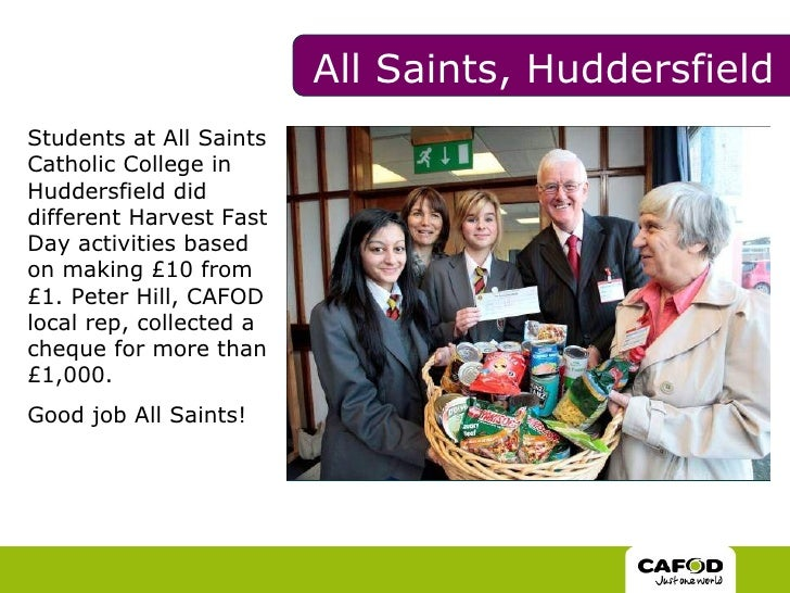 <ul><li>Students at All Saints Catholic College in Huddersfield did different Harvest Fast Day activities based on making ...