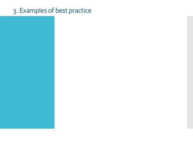 3. Examples of bestpractice