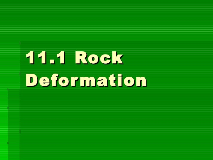 11.1 Rock Deformation
