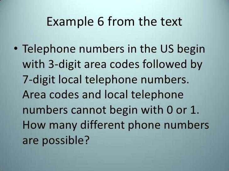 111 Fundamental Counting Principle
