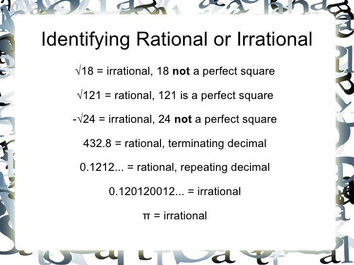 111 Square Root Irrational