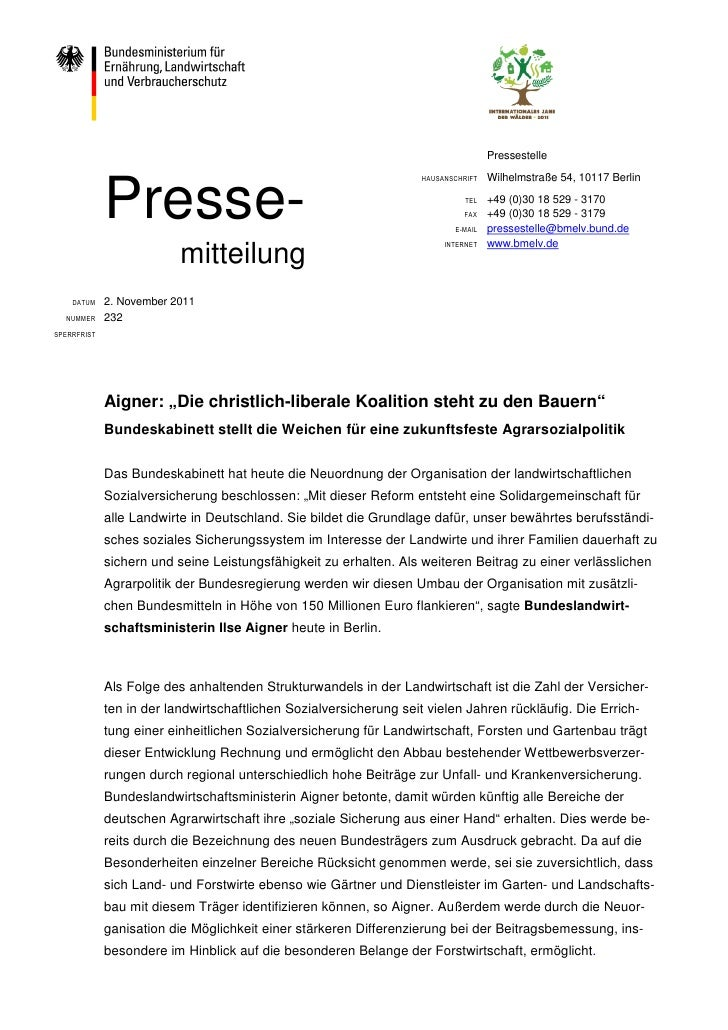 Pressestelle                                                                                    Wilhelmstraße 54, 10117 Be...