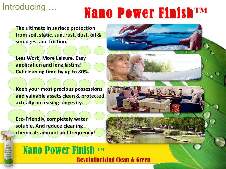 Nano Power Finish™ ~ Nanotechnology Revolutionizes Surface Protection