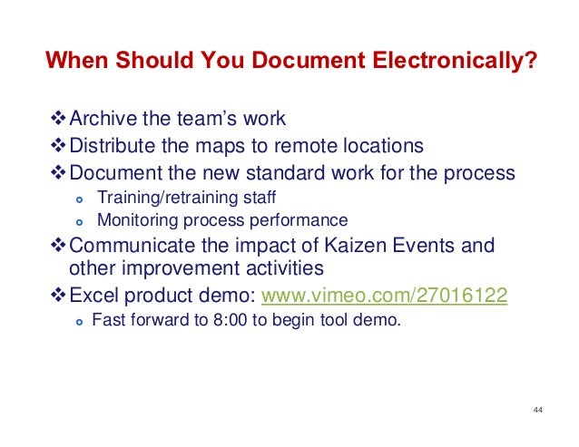 When Should You Document Electronically?Archive the team's workDistribute the maps to remote locationsDocument the new ...