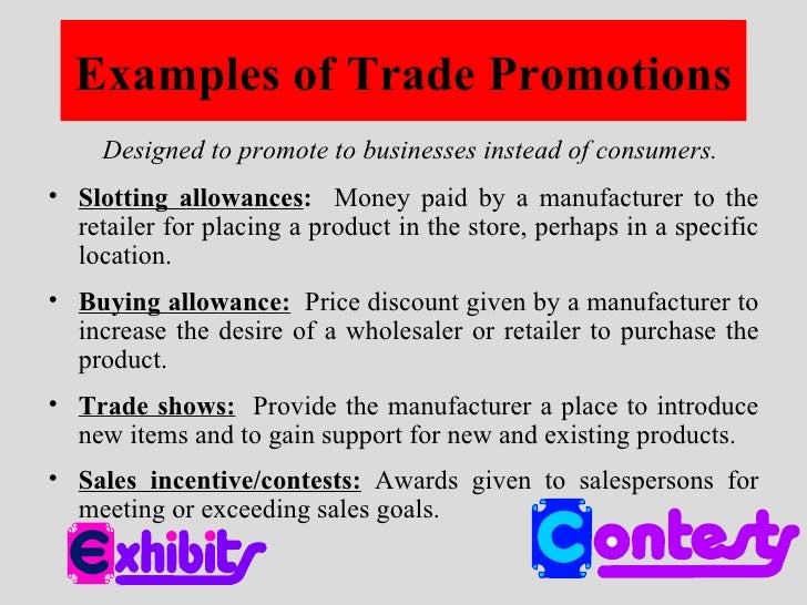 sales promotions examples