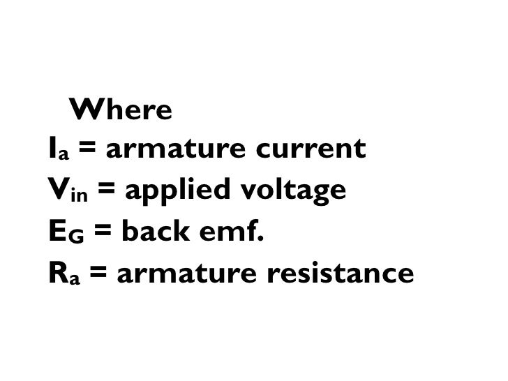 back emf equation of dc motor