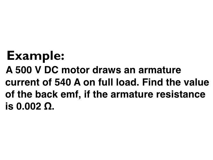11 3 2 Formula Dc Motor Start