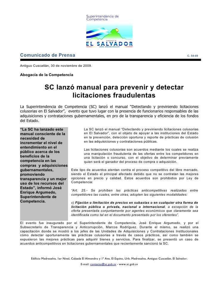 Comunicado de Prensa                                                                                                      ...