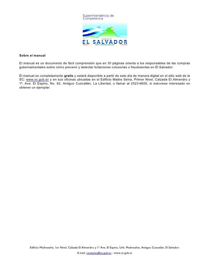 SC lanzó manual para prevenir y detectar licitaciones fraudulentas Slide 2