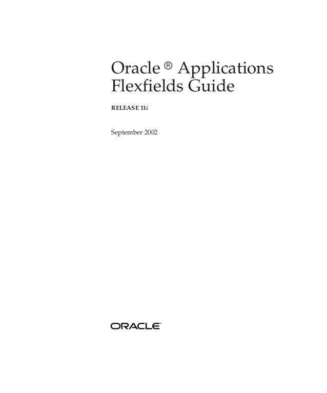 Oracle r ApplicationsFlexfields GuideRELEASE 11iSeptember 2002
