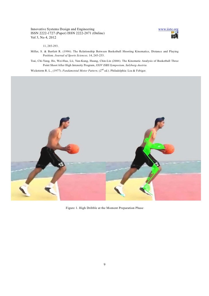 basketball kinematics Eight female basketball athletes participated in the experiment  knee  kinematics and simultaneous electromyography of the rectus femoris.